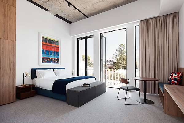 brisbane boutique hotel photo gallery the johnson. Black Bedroom Furniture Sets. Home Design Ideas