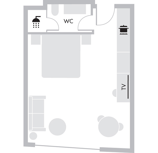 Deluxe Studio Suite - Floorplan